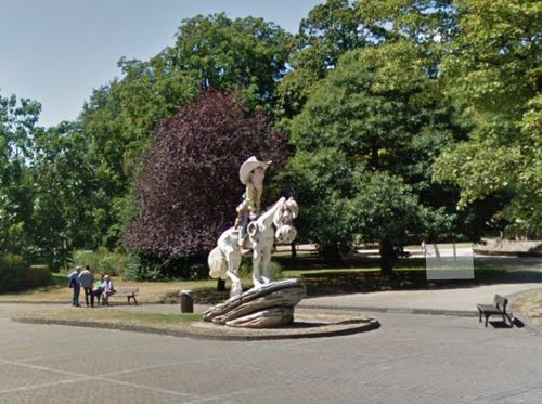Lucky Luke and Jolly Jumper get a statue in Charleroi outside the park
