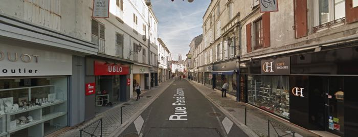 Rue Goscinny in Angouleme is a shopping district