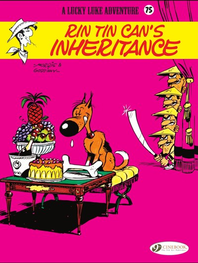 Cover by Morris to Lucky Luke v75: Rin Tin Can's Inheritance