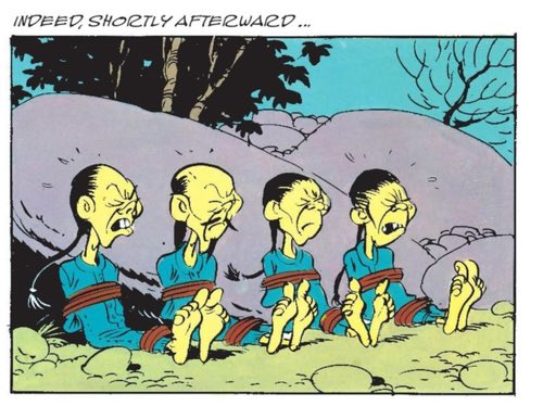 The unfortunate coloring choice for Chinese people in Lucky Luke by Goscinny and Morris