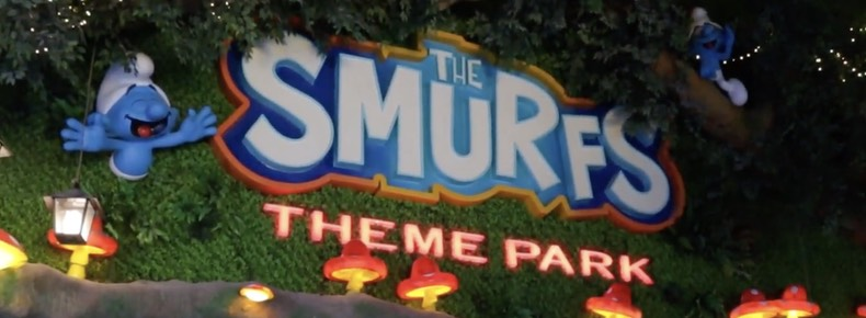 Shanghai welcomes you to their Smurfs theme park
