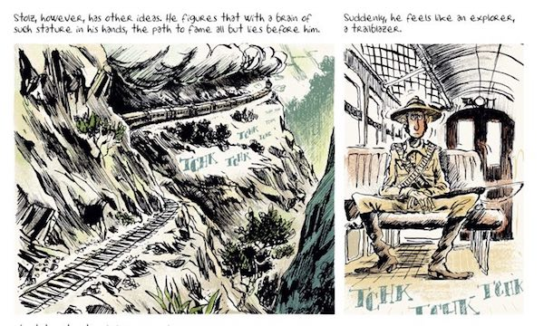 PIerre-Henry Gomont makes his metaphors literal thanks to the glory of comics, in Brain Drain v1