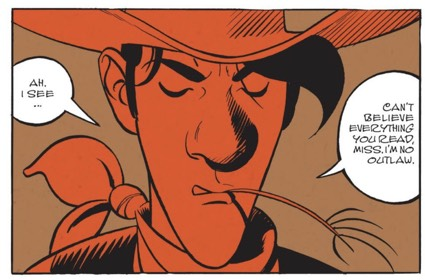 Matthieu Bonhomme's slick inks are on display in Wanted Lucky Luke