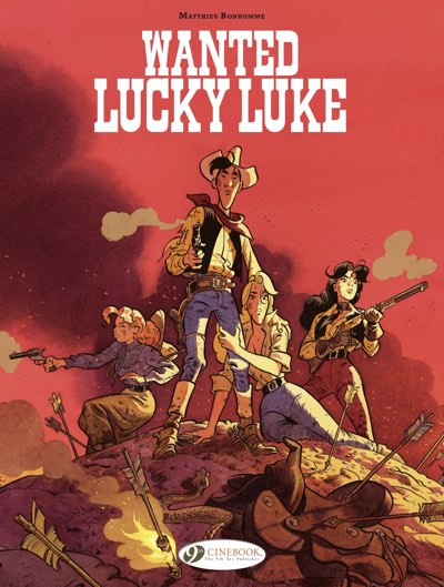 Wanted Lucky Luke cover by Matthieu Bonhomme