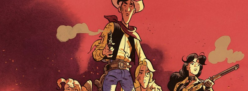 Wanted Lucky Luke cover detail by Matthieu Bonhomme