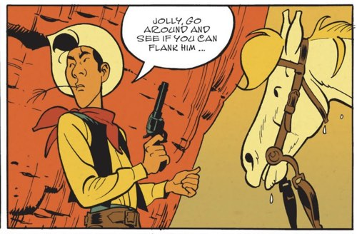 Jolly and Lucky Luke plot their next move
