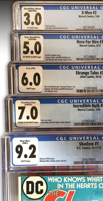 A collection of graded labels with new labels over top of them to indicate the plain English grading term.