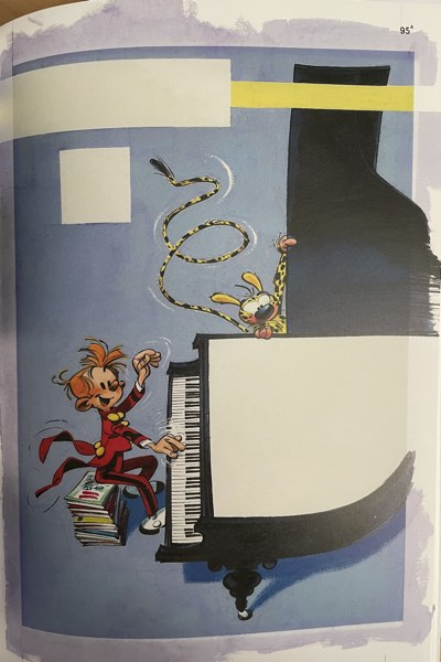 Spirou Collection v95 cover painted by Andre Franquin