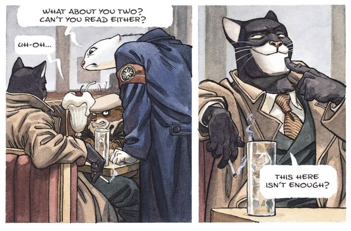 Blacksad's white maw doesn't save him from the Arctic Circle