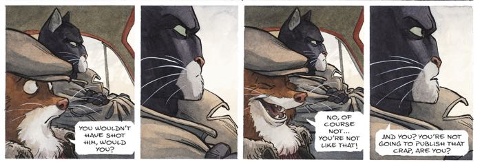 Blacksad takes a beat, and that's all you need to know from this moment drawn by Juanjo Guarnido