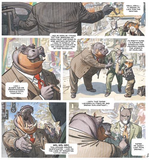 Here's a Blacksad sequence where the lettering is very easy to read out of order.