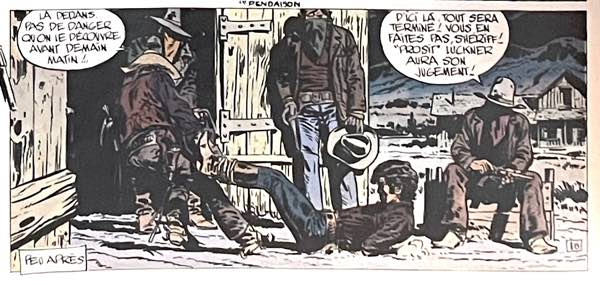 Jean Giraud Blueberry character is dragged away