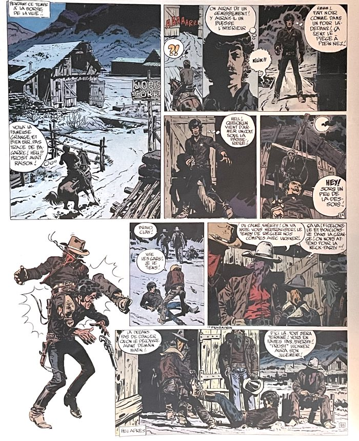 """A page by Jean """"Moebius"""" Giraud from his western Blueberry"""