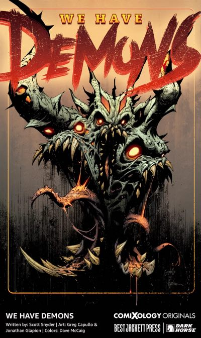 Scott Snyder and Greg Capullo on a Demons book because of course they are