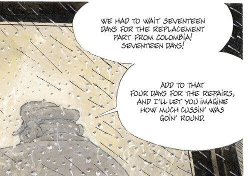 Two word balloons to show some lettering examples from The Beast