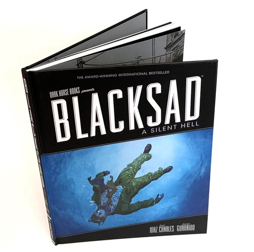 Blacksad v4: A Silent Hell book photographed from above