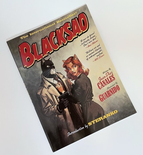 The first Blacksad book, as published by ibooks