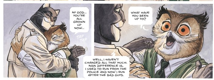 Blacksad is reunited with his old pal, Professor Otto Liebber