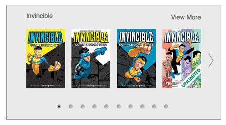 Comixology's recommended collections for Invincible
