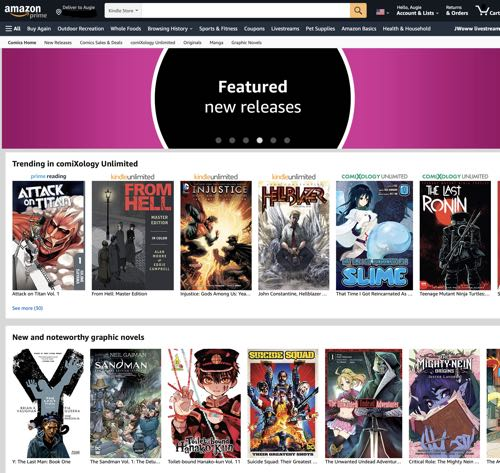 Comixology's new Amazon front end