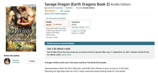 Savage Dragon search results in Amazon Kindle