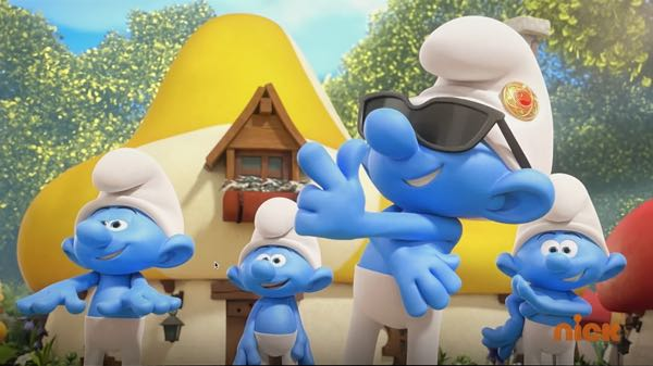 Clumsy Smurf goes all Bruno Mars