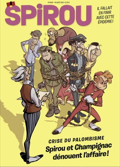 Cover to a recent issue of Spirou Journal magazine