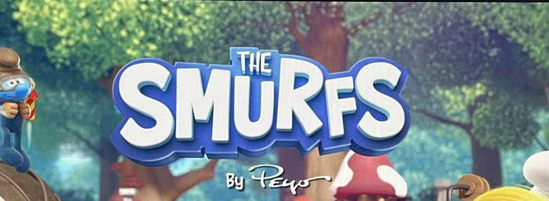 The Smurfs logo treatment from the new Nickelodeon series, 2021