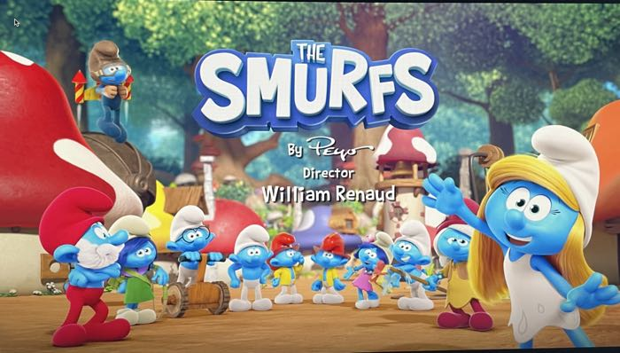 The Smurfs television series (2021) opening credits screen grab