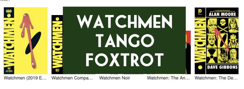 Watchmen Tango Foxtrot - the problem with Digital Collections (DC Edition)