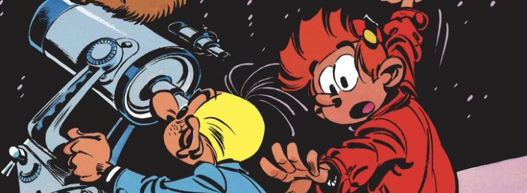 """Spirou and Fantasio v14: """"The Clockmaker and the Comet"""""""