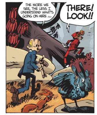 Lettering example from Spirou and Fantasio v18